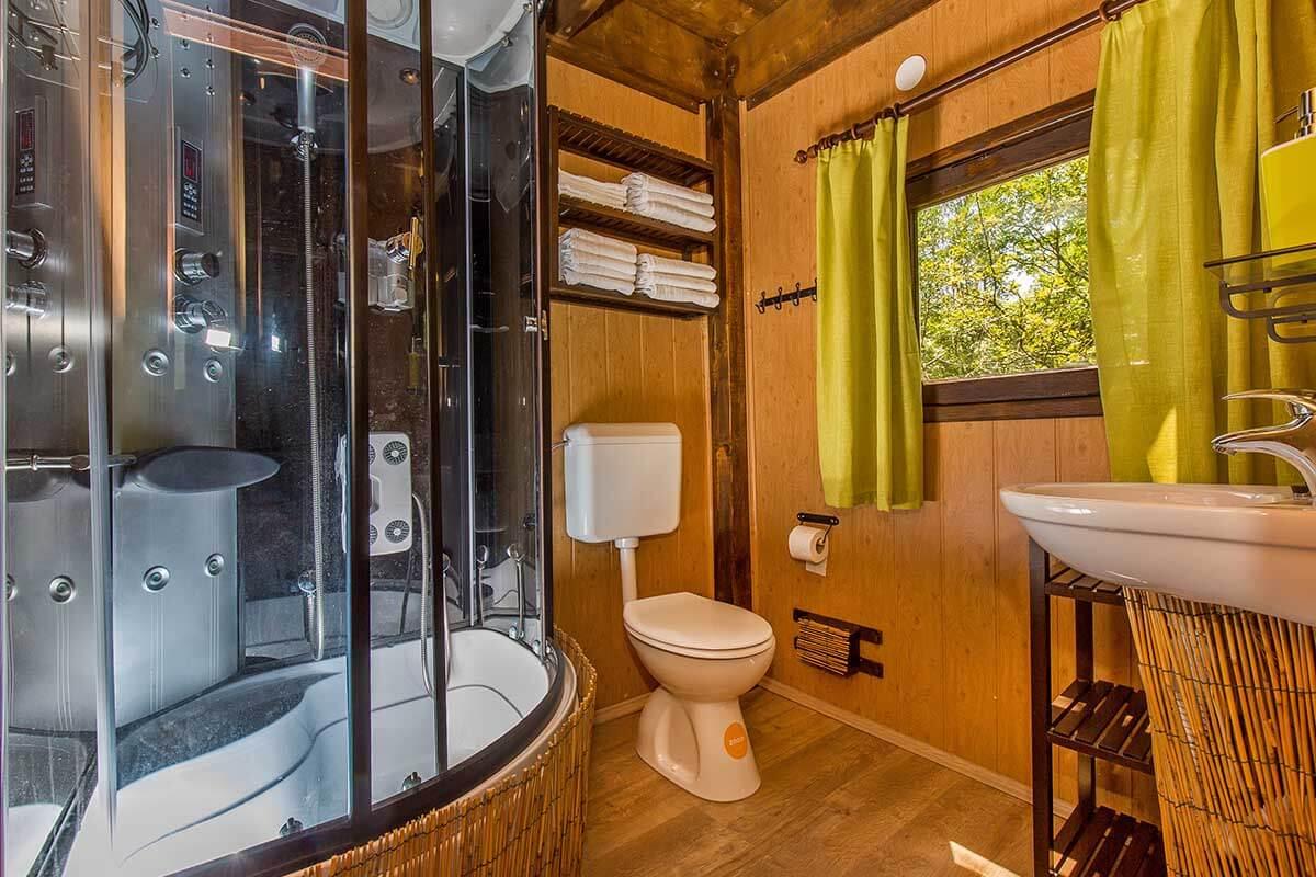 first treehouse croatia 5 - Tree House Bathroom